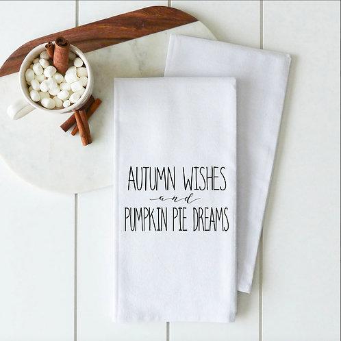 Autumn Wishes Tea Towel.