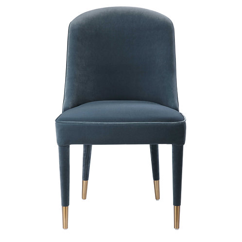 Armless Chair, Blue, Set of 2