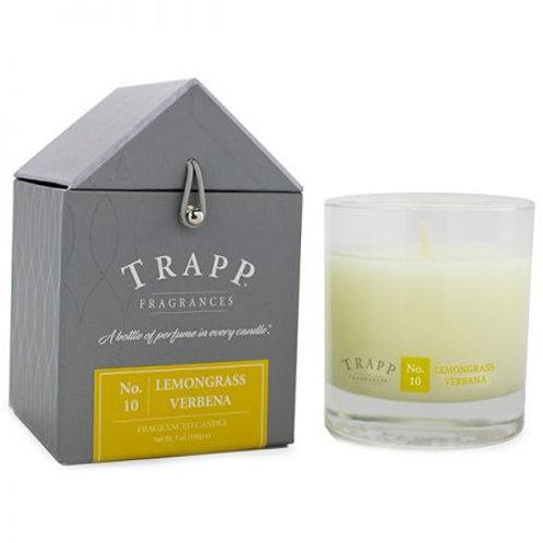 Trapp 7 oz. Large Poured Candle - No. 10 Lemongrass Verbena