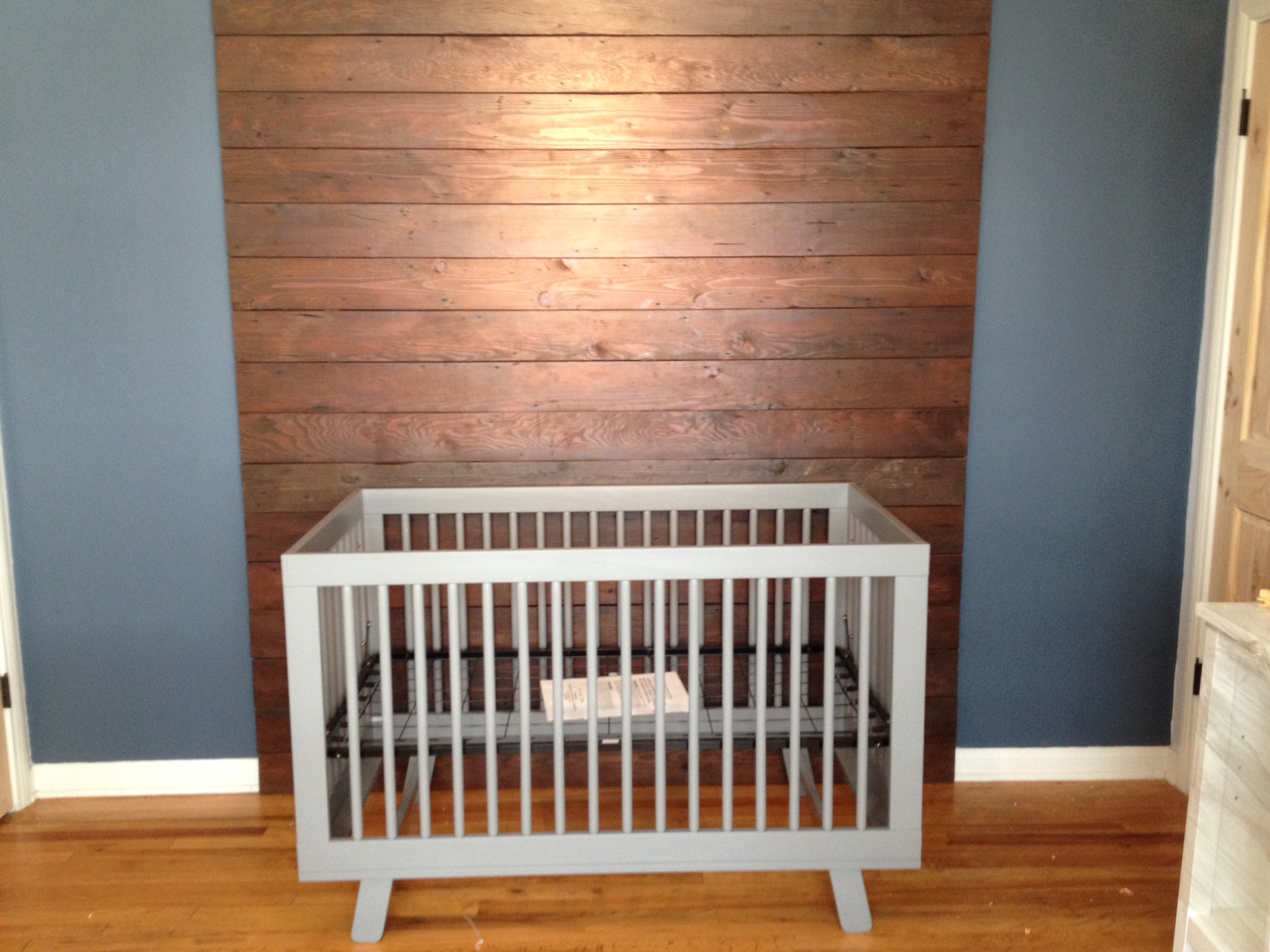 reclaimed lumber wall
