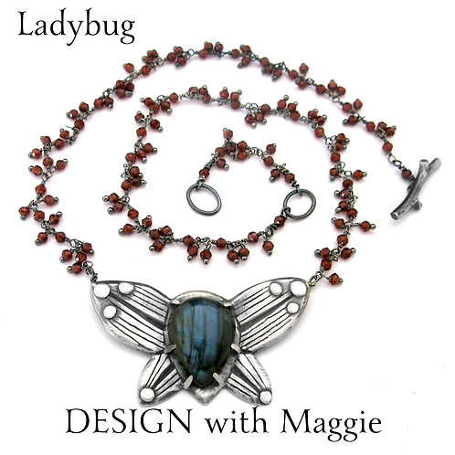 Custom  Ladybug Love Bug Necklace