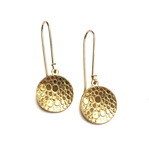 14k gold vermeil Rain Puddle Earrings