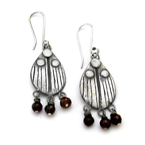 Black Onyx Ladybug Earrings