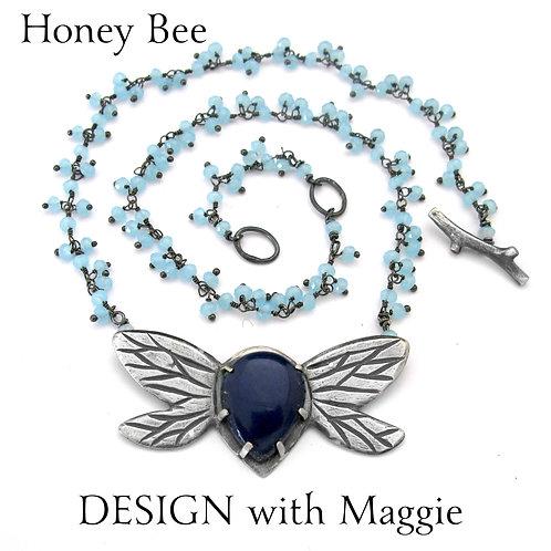 Custom Honey Bee Love Bug Necklace