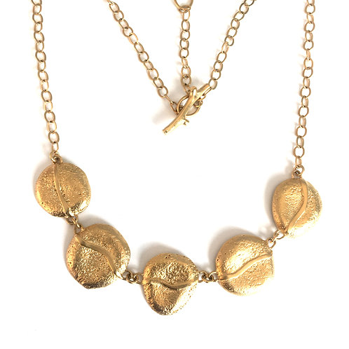 14k gold vermeil River Rock Collection Necklace