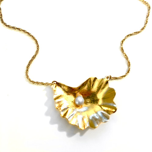 14k gold vermeil Oyster Pearl Necklace