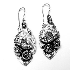 rose bird pmc earrings front aug18.jpg