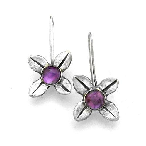 Amethyst Petal Earrings