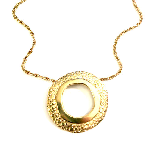 14k gold vermeil Rain Splash Necklace