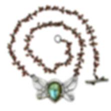 labradorite garnet chain love bug july19