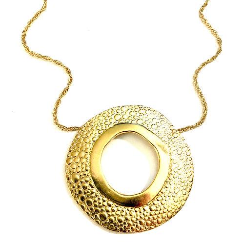 14k gold vermeil Large Rain Splash Necklace