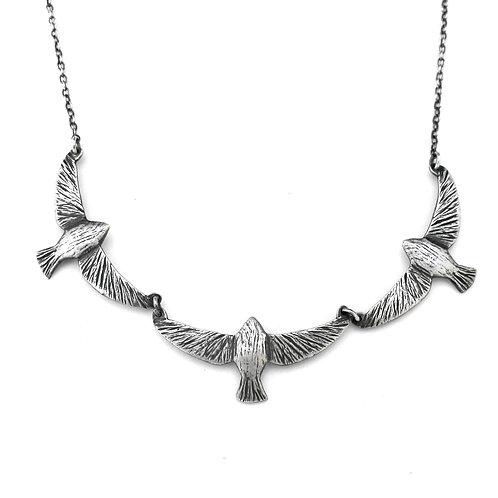Triple Mama Soaring Bird Necklace