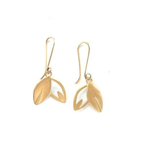 Lotus Petal Stem Earrings