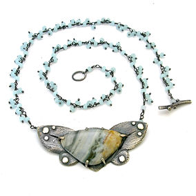 agate butterfly aqua chalcedony cluster