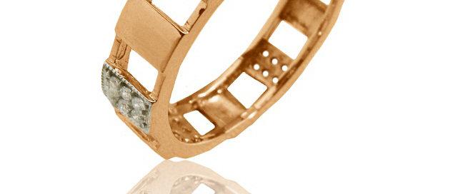 Обручальное кольцо 1074 вес 4,5 гр