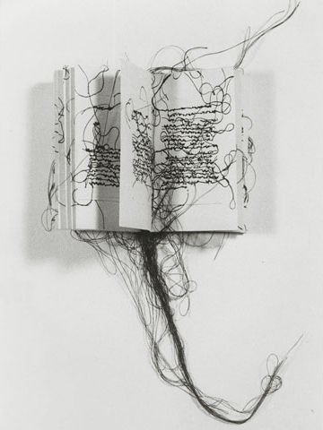 maria lai, asemic writing, artist book
