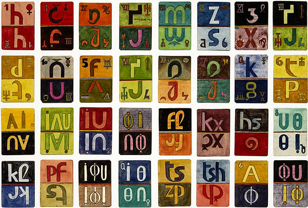 xul solar, pan language, asemic writing, escrita, escritas assêmicas, escritura