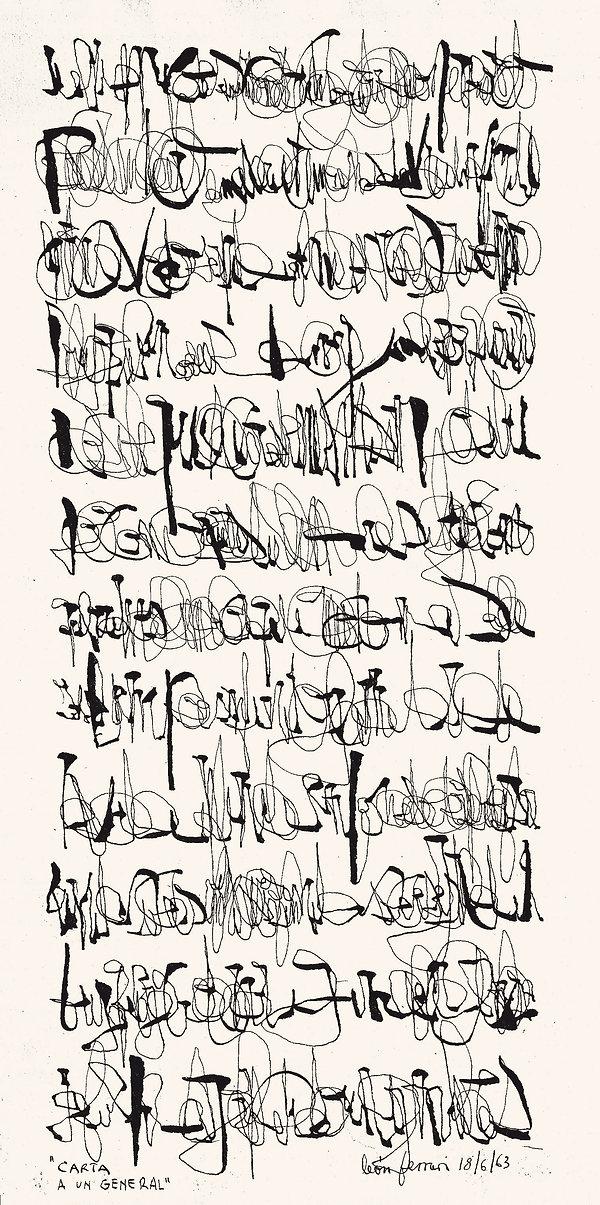 león ferrari, asemic writing, escritura, escrita