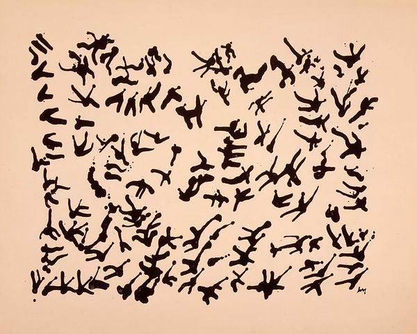 henri michaux, asemic writing, écriture, escrita