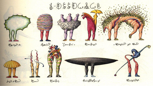codex seraphinianus, asemic writing, escrita, escritas assêmicas, escritura
