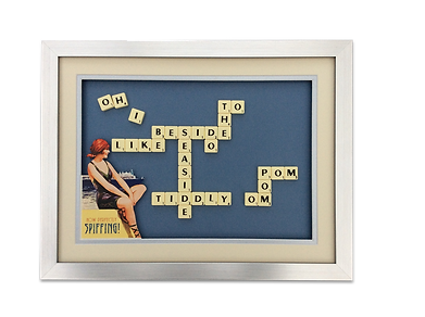 Retro seaside scrabble picture unique gift