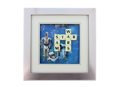 Star Wars scrabble picture unique gift