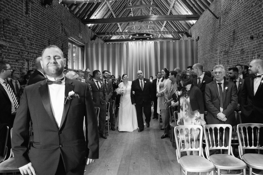 The first wedding moments