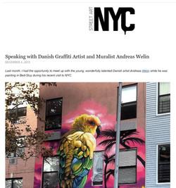 Street art NYC Interview