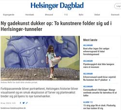 Tunnel Artwork Helsingør Dagblad