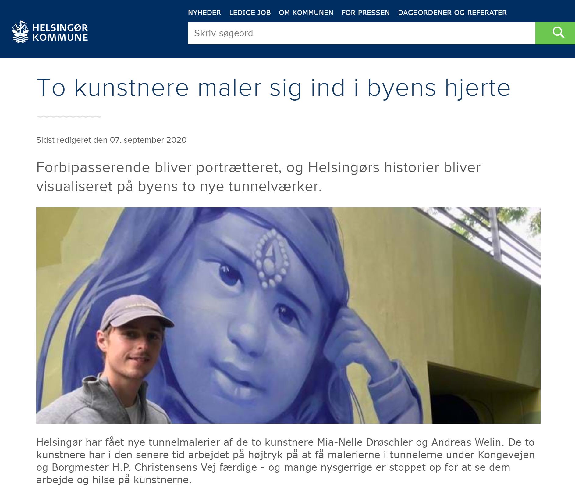 Tunnel artwork Helsingør kommune