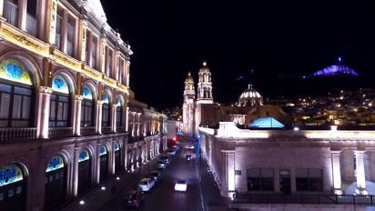 Noche en Zacatecas, desde el aire