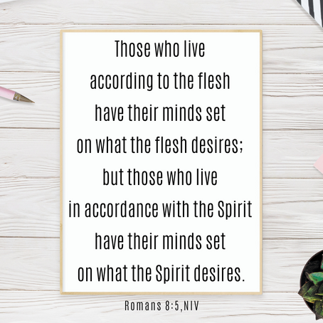 Setting Our Minds on What the Spirit Desires