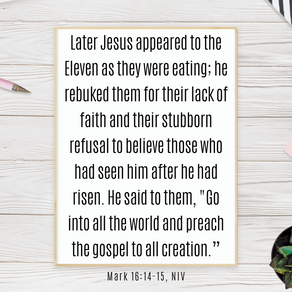 You Have Not Been Disqualified from the Great Commission