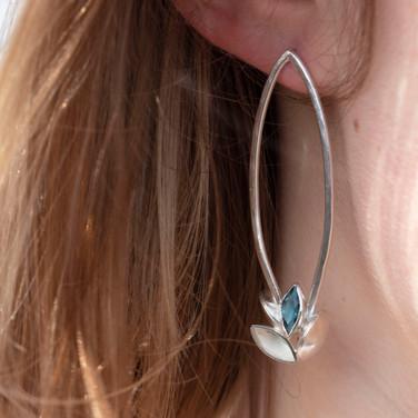 London Blue Topaz Mismatched Earrings
