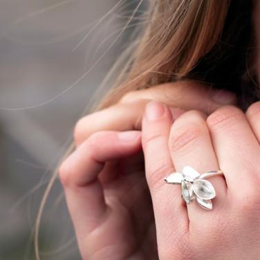 Silver Barnacle Ring