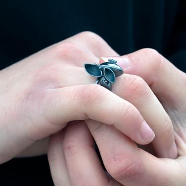 Oxidised Barnacle Ring