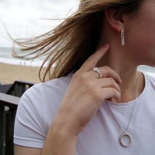 Tidal Necklace, Earrings & Beachcomber Ring