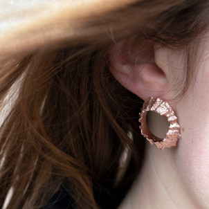 Rose gold plated Limpet Studs