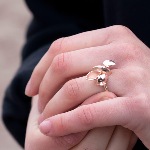 Rose Gold Plated Barnacle Ring