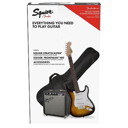 Fender Squier Affinity Stratocaster Pack, Brown Sunburst