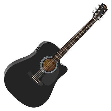 Fender Squier SA-105CE, Black