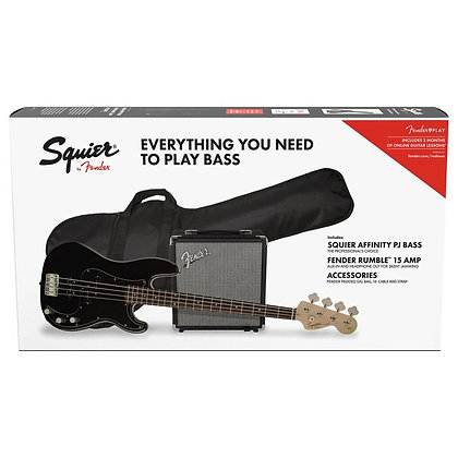 Fender Squier Affinity Precision Bass PJ Pack, Black