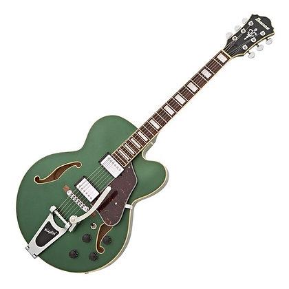 Ibanez AFS75T, Metallic Green Flat