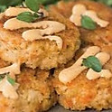 Tray of Arts Fest Crab Cakes