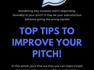 Five Non-Verbal Tips to Improve Your Pitch