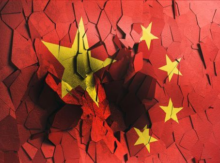 China, a sinking ship.