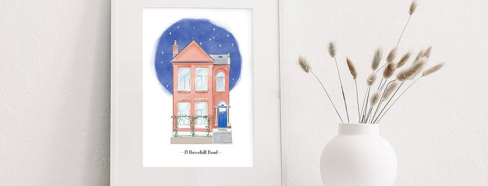 Personalised Home Illustration