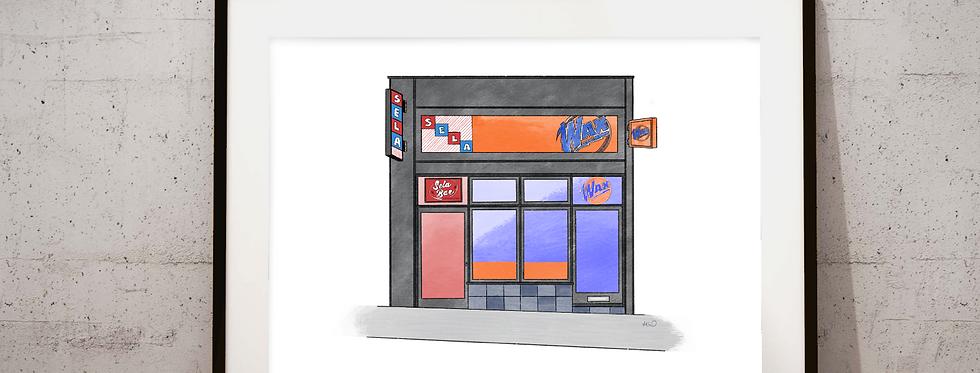 SELA/WAX Bar illustration - colour