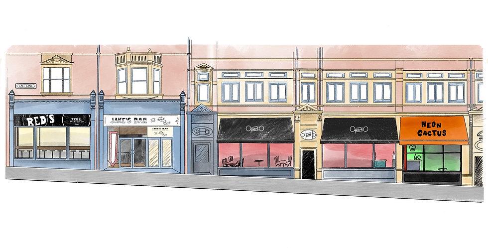 Call Lane, East Side Print - full colour
