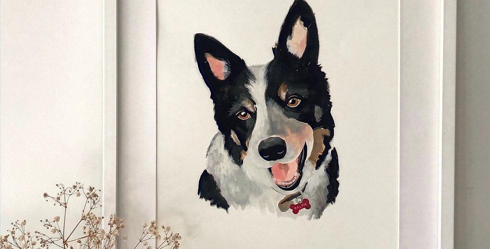 Personalised Pet Portrait A3 - 1 Pet